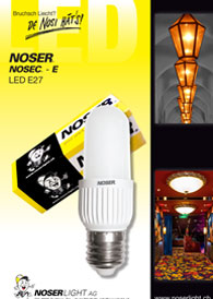 LED E27 warmweisses Licht
