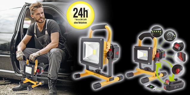 24 heures de lumière mobile pour le travail et l'aventure
