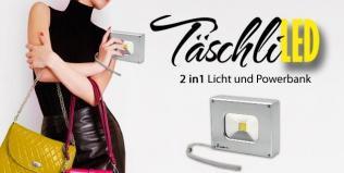 Der 2in1 Mini LED Strahler mit Powerbank!
