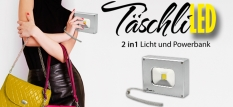 """TäschliLED"" Mini LED Strahler mit Powerbank"