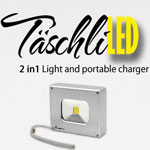 """TäschliLED"" Mini LED Floodlight with portable charger"