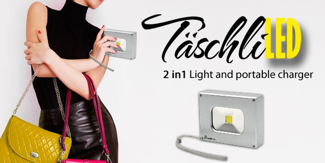 """TäschliLED"" Mini LED Floodlight with portable charger"