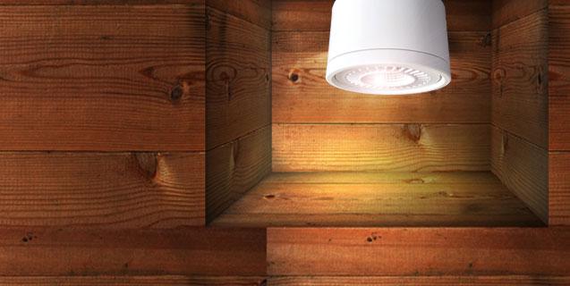 luminaire à LED orientable et rotatif pour montage en surface
