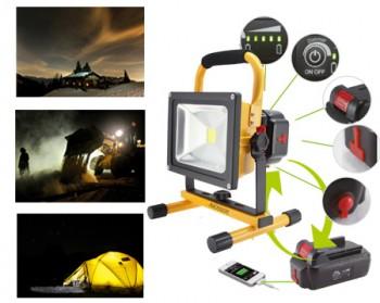 Portable Led Floodlight 1x20w 1150lm 3000k Warm White Item No