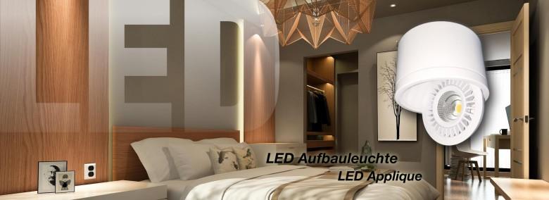 LED Aufbauleuchte schwenk- u. drehbar