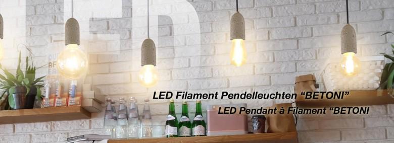 LED Pendelleuchte Betoni