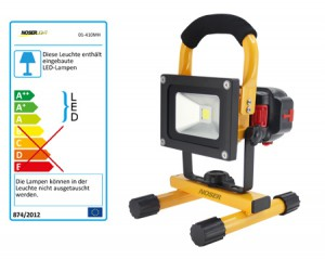 Tragbarer, mobiler High Power LED-Strahler 10W, 780lm, 3000K, Art.-Nr. 01-410MH