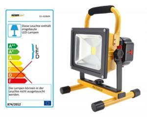 Tragbarer, mobiler High Power LED-Strahler 20W, 1150lm, 3000K, Art.-Nr. 01-420MH
