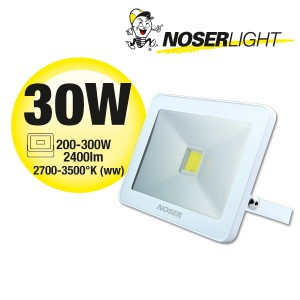 NOSER iLight LED Strahler 1x30W, 2400lm, 3000°K, - super flach, super schmal und super leistungsstark! Art. Nr. 01-430F