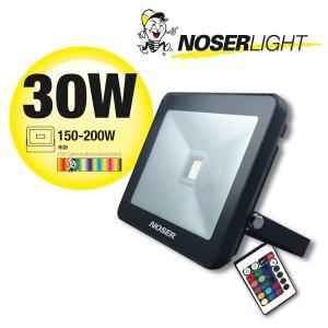 RGB LED Strahler 1x30W, 220-240V, IP65, 110°