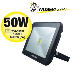 NOSER iLight LED Strahler 1x50W, 3500lm, 6500°K, Art. Nr. 01-451FB