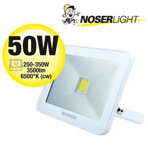 NOSER iLight LED Strahler 1x50W, 3500lm, 6500°K, weiss, - super flach, super schmal und super leuchtstark!