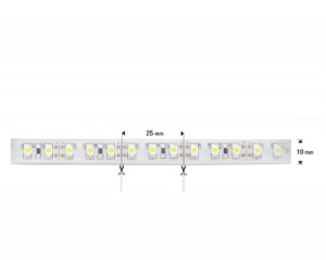 NOSER-LED-Strip, weiss, 5800-6500K, OUTDOOR, 12VDC, silikoniert, IP65, 24W