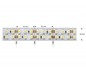 NOSER High Power LED-Strip, Farbe rot, OUTDOOR, 12VDC, silikoniert, IP65, 90W