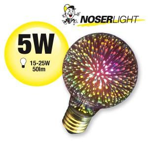 NOSER Filament Deko LED G80 - Regenbogenfarben für Ihr Zuhause