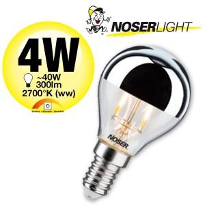 NOSER LED Tropfen-Kopfspiegel G45, E14, 4W, ~300lm, warmweiss - 2700°K