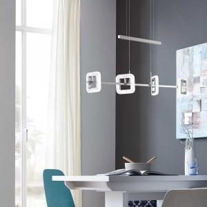 LED Pendelleuchte DAVIS - Acrylglasringe effektvoll in Szene gesetzt