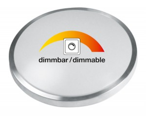 LED Deckenleuchte / Wandleuchte dimmbar, rund 410mm, 20W, kaltweiss