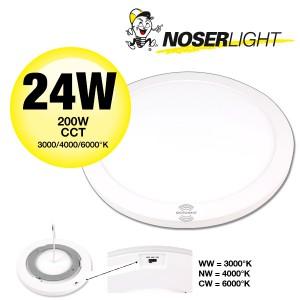 LED Deckenleuchte / Wandleuchte mit Sensor, SUPER FLAT, rund, diam. 330mm, 24W