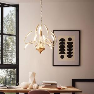 LED Pendelleuchte HAMPTON - der goldene, moderne Kronleuchter