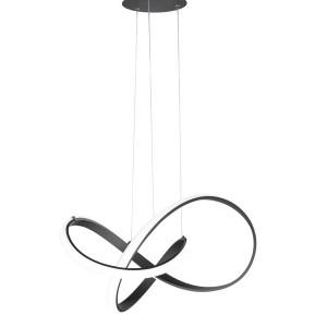 LED Pendelleuchte INDIGO - ausgefallenes, rundes Design in schwarz