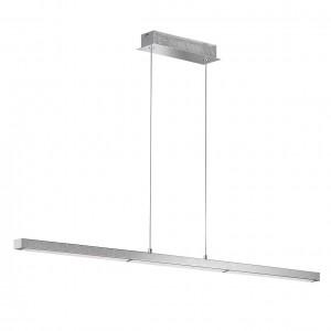 LED Pendelleuchte LEVI - gradliniges Design chrom Diamanteffek