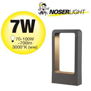 LED Aussenleuchte ARC, 30cm, schwarz, IP65, warmweisses Licht