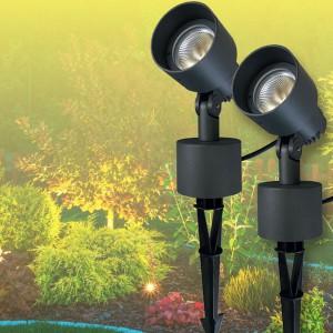 DOPPELPACK NOSER - LED Gartenstrahler schwarz, 7W, IP65