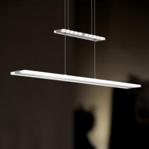 LED Pendelleuchte MISSION nickel-matt / chrom