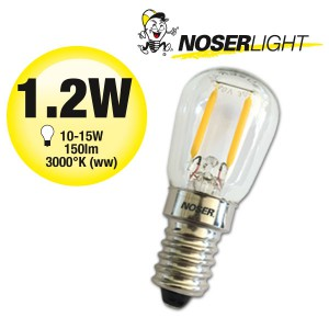 NOSER-MINI LED  - LED-Birnenlampe, 1.2W,  220-240V, 150lm, warmweiss (ww)
