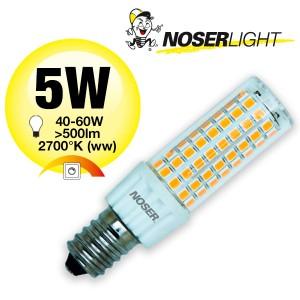 NOSER Mini LED, E14, 5W, 230V, 2700°K, dimmbar