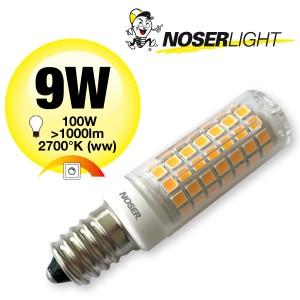 NOSER Mini LED, E14, 9W, 230V, 3000°K, warmweiss, Art 837.09
