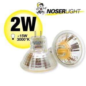 NOSER-LED MR11, 2W, 12V, GU4, 120°, 3000°K warm weiss, Art.-Nr. 8835.021
