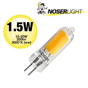 NOSER Glas LED-Stiftsockel G4, 1.5W, 200lm, 360°, 3000°K