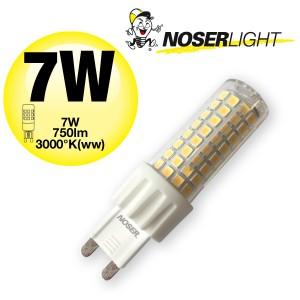 NOSER LED-Stiftsockel G9, 7W, 220-240V, ~50/60Hz, warmweiss - 3000°K, Art.-Nr. 932.07