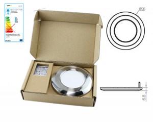 NOSER LED Unter  / Einbauleuchte, SET, Nickel Gebürstet, 3W, 300lm,