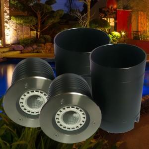 DOPPELPACK LED Bodeneinbauleuchte, rund, IP67 für LED 230V, Sockel GU10, Art.-Nr. CT-3601-2