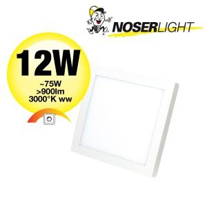 NOSER LED Aufbauleuchte quadratisch, 12W, 900lm, 3000°K, DLBQAB12W-WW