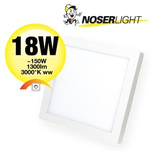 NOSER LED Aufbauleuchte quadratisch, 18W, 1300lm, 3000°K, dimmbar, Art.-Nr. DLBQAB18W-WW