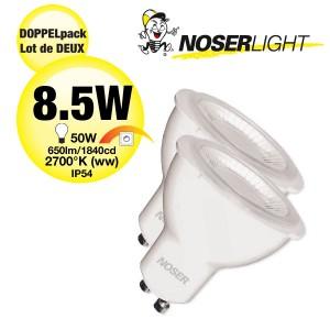 DOPPELPACK! NOSER LED GU10, 8.5W, ~650lm/1840cd, 38°, 2700°K, DIMMBAR, Art. Nr. DP8836.085