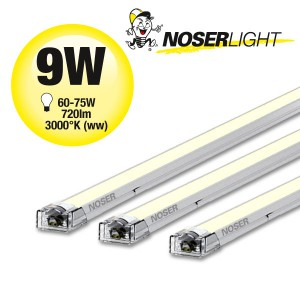 NOSER LED-STICK 56cm, 9W, 720lm, 120°, DC24V, 3000°K - warmweiss, dimmbar