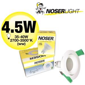 LED Einbauleuchte - Set: MLED204 + LED GU10 4.5W                           Art.-Nr. MLEDSET2044W