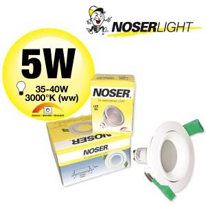LED Einbauleuchte - Set: MLED204 + LED GU10 5W dimmbar,                          Art.-Nr. MLEDSET2045W