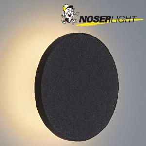 "LED Wandleuchte ""MOON"", schwarz matt, IP65, warmweisses Licht Art-Nr WLB100510W"
