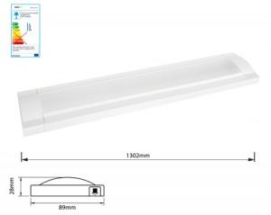 NOSER-LED Flat Leuchte weiss 14.4W, 3000°K