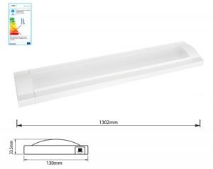 NOSER-LED Flat Leuchte weiss 28.8W, 3000°K