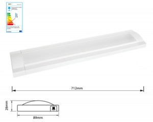 NOSER LED Flat Leuchte weiss 7.2W, 3000°K