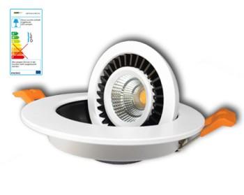 NOSER LED-Downlight weiss, 7W, 420lm/1227cd, kaltweiss - 4000°K, dimmbar