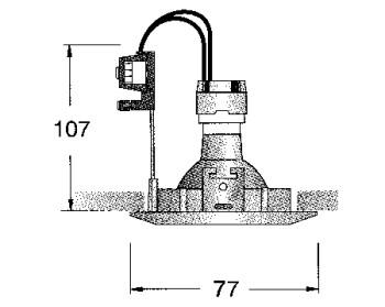 Einbauleuchte rund, geeignet fuer  GU10-GZ10 - MR16 51mm- LED Retrofit, Farbe chrom, fix