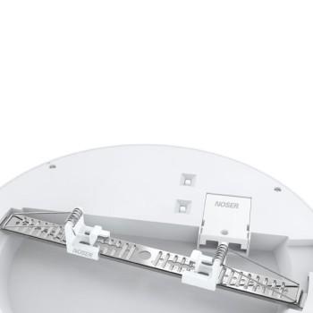 NOSER LED Einbau-/Aufbauleuchte rund, 16W, 240V, weiss